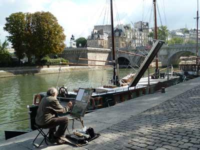 Anatoly Perevishko sur le quai de Seine