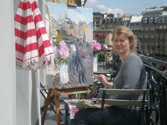 Anna Filimonova -peinture en  plein air