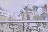 Filimonova Anna Balcon sour la neige aqurelle