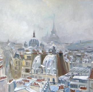 Anna Filimonova Paris sous neige