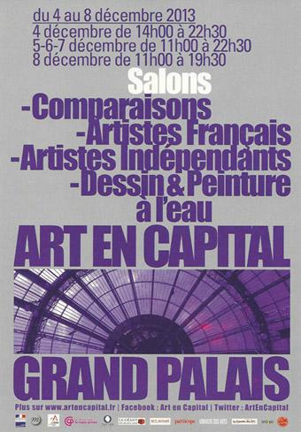 ART EN CAPITAL GRAND PALAIS 2013