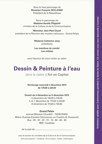 ART EN CAPITAL 2013 - Invitation