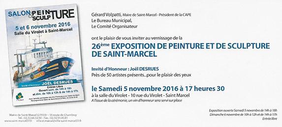 26ème exposition de peinture et e sculpture de Saint-Marcel